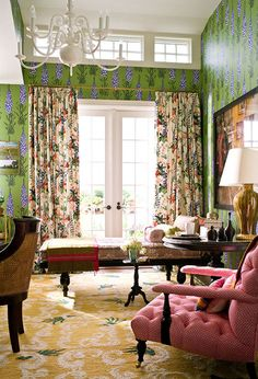 English country house character in a sitting room by Ellen Hamilton. Love all the patterns mixed together. Decorating Your Home, Interior Decorating, Interior Design, English Country Decor, Character Home, Cottage Interiors, Of Wallpaper, Beautiful Interiors, Traditional House