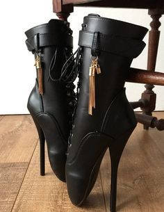 Fetish Ballet Calf Hi Boot Gold Metallic Tassel Charm Burlesque C – Refuse to be Usual Ballet Boots, Ballet Heels, Shoe Boots, Bootie Boots, Shoes Sandals, Stilettos, Chastity Cage, Biker, Hot Heels