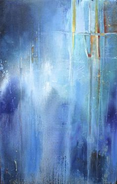 Original art for sale at UGallery.com | Blues on Parade by Karen Hale | acrylic painting | 48' h x 30' w