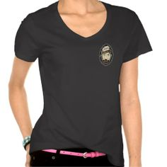 BadGirls gold silhouette young lady Bottom logo Tee Shirts