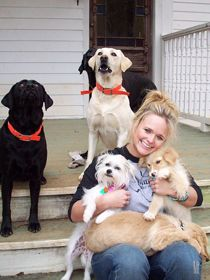 Miranda Lambert with her dogs