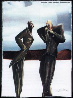 Edland Man Fashion illustration 1985