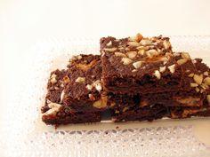 בראוניז שוקולד מריר וחמאת בוטנים