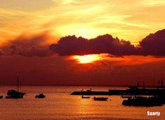 APRIL SUNSET SCENE ☼☼ ☼☼ Dark clouds will bring rain to tomorrow [][][][][][]