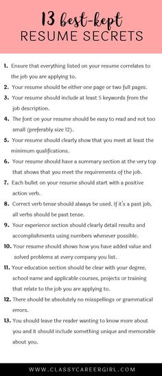 how to make your resume look professional