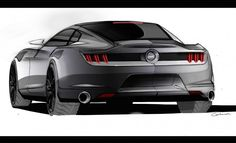 The Drawings and Designs that Gave Birth to the Latest Ford Mustang – Feature – Car and Driver