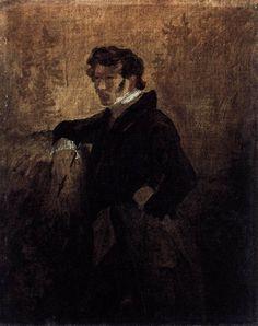 BLECHEN, Karl Self-Portrait 1823 Oil on canvas mounted on board, 26 x 20 cm Nationalgalerie, Berlin