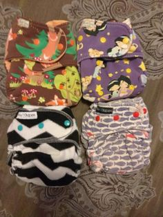 4 fitteds 2 Binky d 2 butt ons | Cloth Diaper Trader