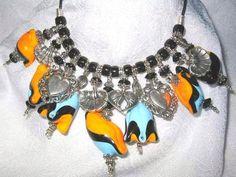 Handwoven Necklace,lampwork
