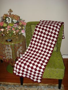 Ready to ship/Throw Over Afghan Blanket/ Handmade Crochet by ufer, $100.00
