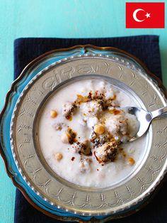 Recipe : ヨーグルト・キョフテ・チョルバ(ヨーグルトのミートボール入りスープ、トルコ)