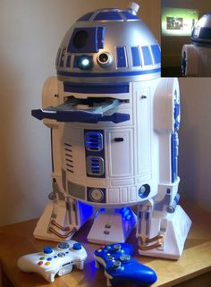 Custom R2-D2 Xbox360. Even has a projector! I would actually consider playing Xbox games if I had this!!! Life = complete