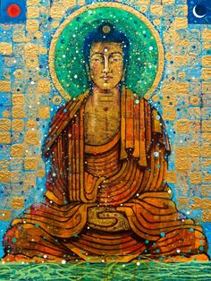 """When you get free from views and words, reality reveals itself to you and that is nirvana. —Thich Nhat Hanh (Art: ""Shakyamuni"" by Aloka) ..*"
