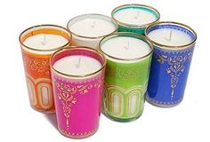 moroccan glass candles