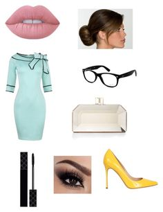 Dapper Like by tyshawn-thomas on Polyvore featuring polyvore, moda, style, Sergio Rossi, Judith Leiber, Ray-Ban, Lime Crime, Gucci, fashion and clothing
