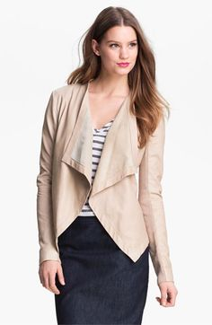 This will be mine...so pretty on!  Halogen 'Waterfall' Leather Jacket available at Nordstrom