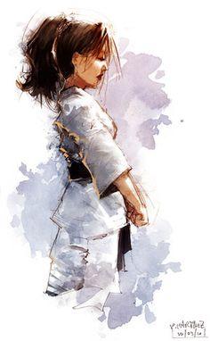 Karate Girl by Pierrick