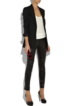 The Row | Motorcycle cropped leather leggings | NET-A-PORTER.COM
