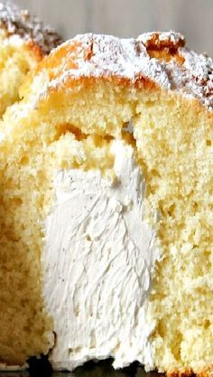 Very Vanilla Twinkie Bundt cake filling recipe can be used for lots of other things too Cake Flour, Powder, Vanilla Cake, Cornbread, Salt, Face Powder, Salts, Sweet Cornbread, Corn Bread