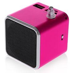 Mini Vibration Speaker for iPhone and Samsung - Magenta Smartphone Speaker #mini #vibration #speaker #iphone #samsung #smartphone $8.56 Best Speakers, Smartphone, Mini