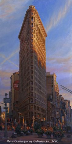 Sunset Crossing Broadway by William A. Suys, Jr. - 48 x 24 inches