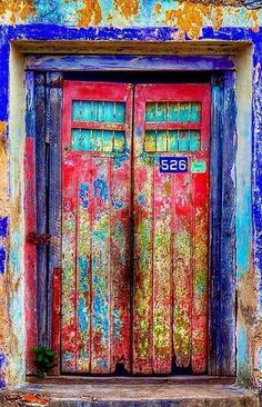 Lives passing through. Maybe somebody should write a book about human existence and doorways. 'The Doors of Perception' sounds good? Cool Doors, Unique Doors, Door Knockers, Door Knobs, Doors Galore, When One Door Closes, Door Entryway, Door Gate, Painted Doors
