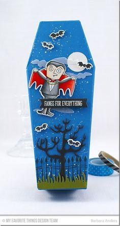 Frightful Friends Stamp Set and Die-namics, Spooky House Die-namics, Fresh Cut Grass Die-namics, Blueprints 21 Die-namics, Blueprints 29 Die-namics - Barbara Anders  #mftstamps
