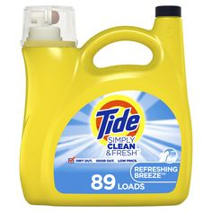 Tide oz Refreshing Breeze HE Laundry Detergent at Lowe's. Tide simply clean and fresh high efficiency liquid laundry detergent fights dirt and odors with the power of baking soda laundry detergent With Tide Simply Clean, Baking Soda Laundry, Tide Laundry Detergent, Fresh And Clean, Health Facts, Cleaning Supplies, Biodegradable Products, Breeze, Tide Pods