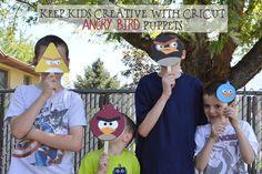 Keep Kids Creative with Cricut - Angry Birds Puppets Creative Kids, Creative Crafts, Bird Birthday Parties, 4th Birthday, Bird Puppet, Cricut Design Studio, Cricut Craft Room, Cricut Creations, Summer Kids
