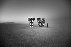 Watching tv at Burning Man. By Bill Hornstein via Flickr