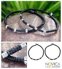 Novica Set of 2 'Hill Tribe Intrigue' Bracelets (Thailand), Women's