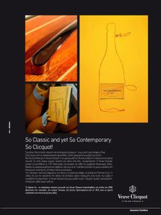 Writing for Veuve Clicquot is always an honor.