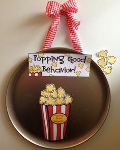 Pizza Pan Praise - whole group positive behavior incentive {popcorn themed} $