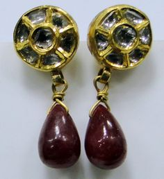 Vintage antique 22ct gold diamond Ruby set by TRIBALEXPORT on Etsy, $899.00