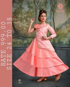 cherry fashion any kids readymade garments in surat children readymade collection wholesale - Krishna Creation Designer Bridal Lehenga, Bridal Lehenga Choli, Mother Daughter Dresses Matching, Party Wear Kurtis, Kids Gown, Gowns For Girls, Frock Design, Fashion Design Drawings, Fancy Sarees