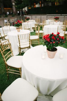 The vivid colors alone are enough to suck you right in to this wedding. They're also enough to send you into all out spring fever. From the rich red hues of the florals byCentral Marketto the understated elegance of the