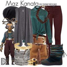 Maz Kanata Star Wars Disneybound - Star Wars Shoes - Ideas of Star Wars Shoes - Maz Kanata Star Wars Disneybound Disney Themed Outfits, Disney Inspired Fashion, Character Inspired Outfits, Disney Dresses, Disney Fashion, Disney Clothes, Fandom Fashion, Geek Fashion, Star Fashion