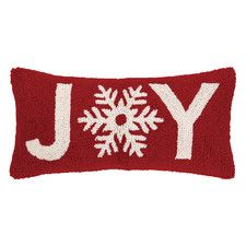 Snowflake Joy Hook Wool Throw Pillow