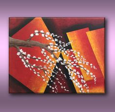 Canvas Painting Wall Decor Tree Branch With Flower by Art4mHeart