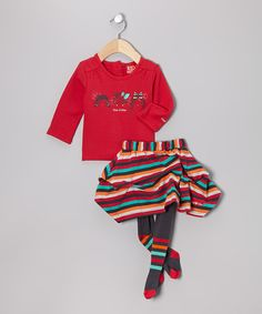 Take a look at this Framboise Girl Tee Set - Infant by Blanc de Blanc on #zulily today!