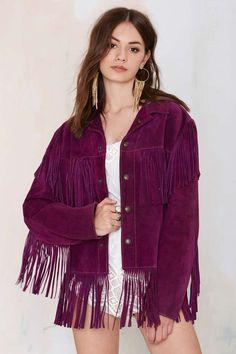 Vintage Purple Haze Suede Fringe Jacket   Shop Vintage at Nasty Gal!