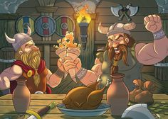 Vikings Feast by ElioFinocchiaro.deviantart.com on @DeviantArt