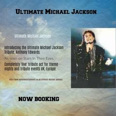 Ultimate Michael Jackson. Completely 'live' #MichaelJackson tribute act for theme nights and tribute events UK, Europe.