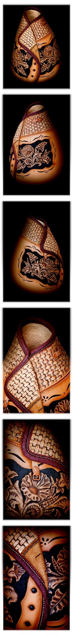 "YES!!! This is a GOURD!!! Amazing Gourd Art, ""Desperado"" by Jordan Straker. This piece is on display here at the farm! This is an amazing example of Gourd Craftsmanship. We can't thank Jordan enough for carving this for us!"