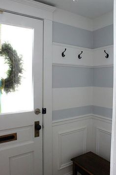 love the stripe with the hook addition...perfect for back entry