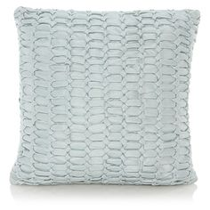 George Home Square Duck Egg Cushion
