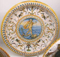 Urbino, atelier fountain, Neptune and grotesque, 1560-75 ca..JPG