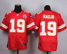 Nike Chiefs 19 Jeremy Maclin Red Men Stitched NFL Elite Jersey