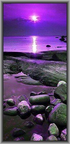 "Purple Aesthetic Discover A New Foundation After Rock Bottom A New Foundation After ""Rock Bottom"" Purple Love, All Things Purple, Shades Of Purple, Purple Sunset, Purple Beach, Purple Colors, Purple Stuff, Pink, Beautiful Sunset"