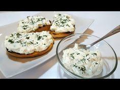 Cremă de brânză cu ceapă verde și mărar - un aperitiv rece, foarte ușor și rapid de făcut - YouTube